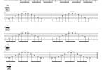 《吉他琶音扫拨练习集合》吉他谱