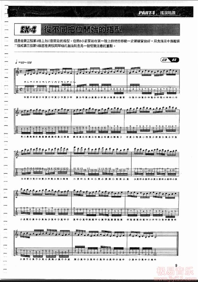 【下载】《吉他哈农-为吉他手设计的机械化指法训练》中文PDF+音频